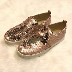 STEVE MADDEN | Sequins Two-tone Sneakers